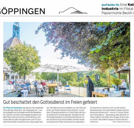 lambert-gmbh-goeppingen-pressebericht-grossschirm-kirchengemeinde-rechberghausen-kita-nwz